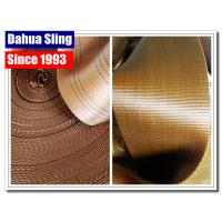 China 6 Ton Brown Heavy Duty Webbing Roll For Webbing Tie Down Straps 6 Stripes wholesale