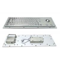 China 64 Keys Panel Mount Industrial Keyboard With Trackball Cabinet Kiosk Application wholesale