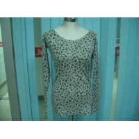 China Cotton Blends Ribbed Fashion Pullover Sweaters For Young Girls Full Stars Printing wholesale