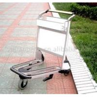 China Lightweight Stainless Steel Airport Luggage Trolley Zinc Plating With Transparent Powder Coating wholesale