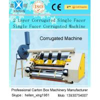 China 2 Layer Single Facer Corrugated Paper Carton Making Machine Simple Structure wholesale