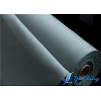 China Silicone Coated Fabric for Welding Blanket 0.8mm Gray Fireproof Fabric Roll wholesale