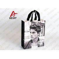 Glued Special Handle Printed Paper Carrier Bags , Custom Recycled Shopping Bags For Retail Stores Manufactures