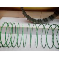 China Anti Aging Stainless Steel Razor Wire , Razor Barbed Tape Wire 600MM Diameter on sale