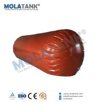 Quality Molatank inflatable Red Mud PVC Cylinder Shape Gas storage bladder container tank for natural gas, biogas, salt dome for sale