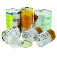 China Air proof EZ open Paper Composite Rice Cans recycled round , gift tube packaging wholesale