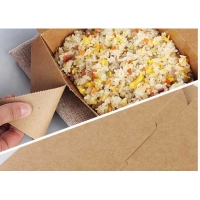 China Yellow Fast Food And Takeaway Food Packaging Kraft Paper Lunch Box wholesale