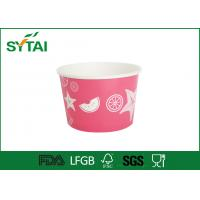 China Custom Print Ice Cream Paper Cups Disposable Salad Bowl With Lids wholesale