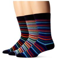 China Colorful fashionable custom striped design knitted mid calf cotton socks for men wholesale