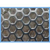China Anodizing Hexagonal Perforated Aluminum Sheet / Screen 1.5mm Thickness wholesale