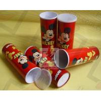 China Cardboard Pen Gift Boxes Paper Cylinder Box Micky Mouse Carton Pattern wholesale