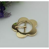 China Design simple 32 mm light gold large flower belt buckle pin buckle bag cover head decoration for clothing hardware wholesale