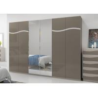 Quality King Size Bedroom Furniture Sets , Modern High Gloss Bedside Cabinets E1 MDF for sale
