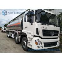 China Dongfeng 8*4  27.5cbm Fuel Tank Trailer 340HP  Aluminium Alloy For Transporting Oil wholesale