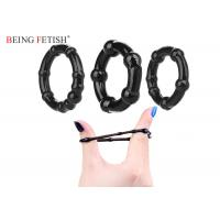 China Black White Silicone Pleasure Ring Ultra Stretchy Love Ring Set 3 Pack Being Fetish wholesale
