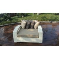 China Outdoor Rattan Furniture Lounge Sofa , Luxury Conservatory Sofa Bed wholesale