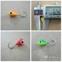 Quality colorful tungsten  jighead for ice fishing for sale