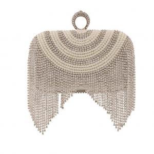 China Evening bag tassel bead bag pearl luxury Women Elegant Clutch  Wedding purse party bag wholesale