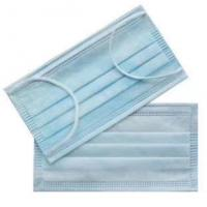 China Blue Color Bulk Dust Masks  , Disposable Nose Mask Non Wearing Pressure wholesale