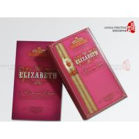 China Red Color Cigar Packaging Rigid Printed Cardboard Boxes 12*7*18cm wholesale