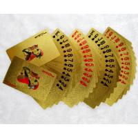 Quality gold foil playing cards for sale