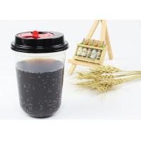 China Party Design Juice Tea Coffee PP Plastic Cup , Clear Plastic Cups With Lids wholesale