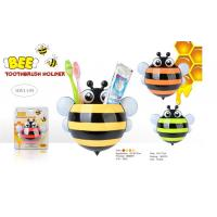 China TOOTHBRUSH & TOOTHPASTE HOLDER - BEE DESIGN (4 ASSORTED COLORS) wholesale