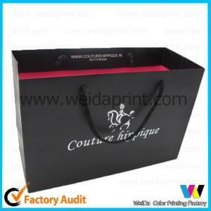 China Logo Print Laminated Reusable Packing Bag Printed Paper Shopping Bag wholesale