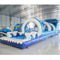 China Large Pvc Water Game Inflatable Water Slide with Blower for Children and Adult wholesale