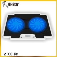 China 5 adjustable angles, 2 USB2.0 HUB, 2 fan ,Laptop coolers with different colors wholesale