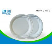 China Small Size Bulk Paper Plates , Plain White Paper Plates Without Printing wholesale