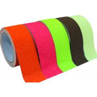 Quality Durable Safety Grit Self Adhesive Non Slip Tape / Red Color Non Slip Grip Tape for sale