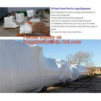 China biodegradable shrink wrap 200 mic construction industrialJumbo construction industrial uv shrink wrap for yacht covering wholesale