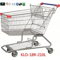 China 210 Litre Grocery Shopping Trolley With Zinc Or E - Coating With Color Powder Coating wholesale
