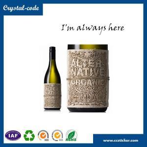 China Chinese best price wine bottles label size,metal wine label,wine bottle label wholesale