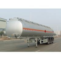 China Tri Axle Carbon Steel Tanker Trailer , Oil And Diesel Fuel Tank Trailer 40000L wholesale