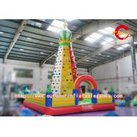 China Artificial Inflatable Rock Climbing Wall / Commercial Giant Inflatable Climbing Toys wholesale