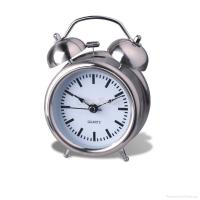 China fashion cute metal twin-bell alarm clock with cantoon dial ET6029 wholesale