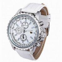 China Multifunction Automatic Watch with 6 Hands, Automatic Movement, Genuine Leather Strap, Steel Case wholesale