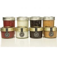 China Gift 100ml Transparent Glass Storage Jars With Lids For Honey Jam Spicy on sale