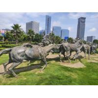 China Modern Bronze Horse Statue , Outdoor Bronze Sculpture Public Decoration wholesale
