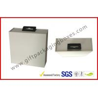 China Custom Big White Display Gift Packaging Boxes With Black EVA Holder And Hook on sale