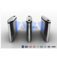 Buy cheap IP54 Anti - Breakthrough Flap Turnstile Speed Automatic Gates Barcode System With Bule Light from wholesalers