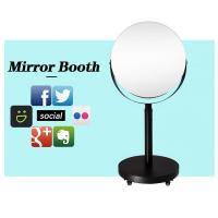 China White Height Adjustable Circle Selfie Box Magic Mirror Photo Booth Beauty Led Lighted Oval wholesale