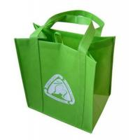 China Green Recyclable 120gsm Eco Non-woven Shopping Bags / Fabric Shopping Bags For Vegetable / Food wholesale
