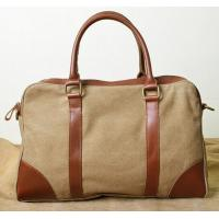 China promotional goods travelling bags in canvas and leather for man and women on sale