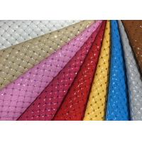 China Mildew Proof Quilted Leather Fabric Nonwoven Synthetic PU Embroidered wholesale