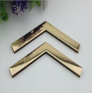 China Factory direct sales iron material 105 mm length golden handbag corner protectors for box wholesale