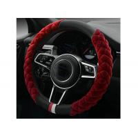 China 39CM Massage Steering Wheel Cover With PU Leather And Soft Fur Material wholesale