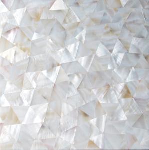 China Handmade Beautiful Sea shell Wall Panel Freshwater Shell Decorating Panel Triangle 10-35mm wholesale